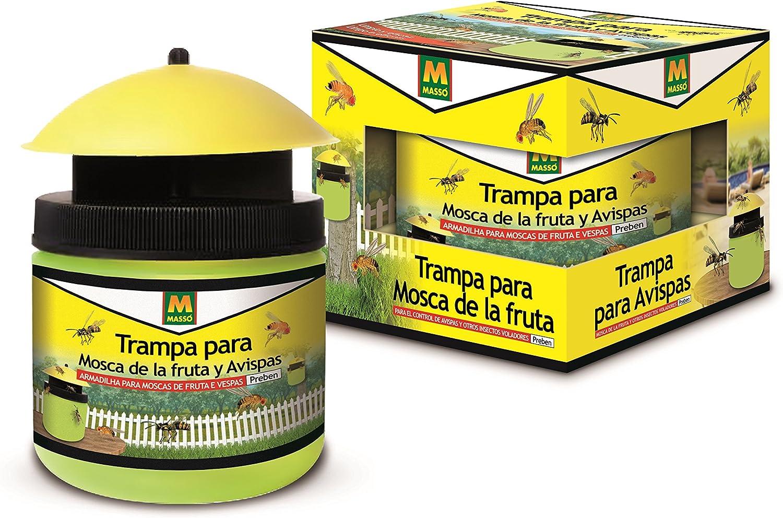 PREBEN 231402 Trampa Mosca de la Fruta y Avispas, Amarillo, 13.2x10.5x12.8 cm