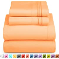 Nestl Deep Pocket Twin Sheets: Twin Size Bed Sheets with Fitted and Flat Sheet, Pillow Cases - Extra Soft Microfiber…