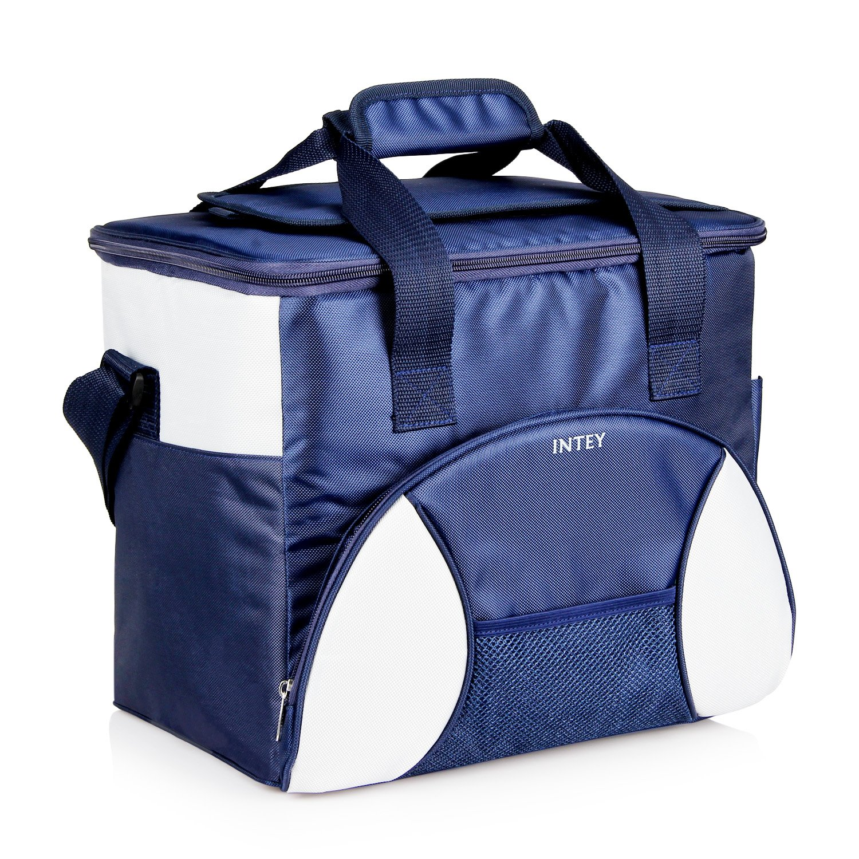 INTEY Bolsa Térmica Porta Alimentos Nevera Portátil L para Camping Azul