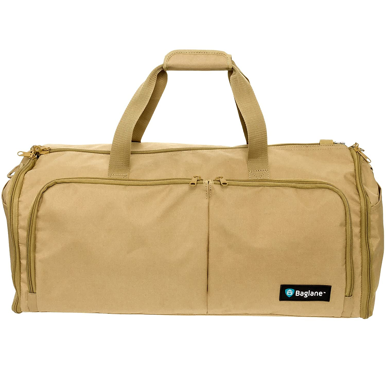 Carry on Suit Travel Bag by Baglane - Military Garment Bag (Coyote Brown)