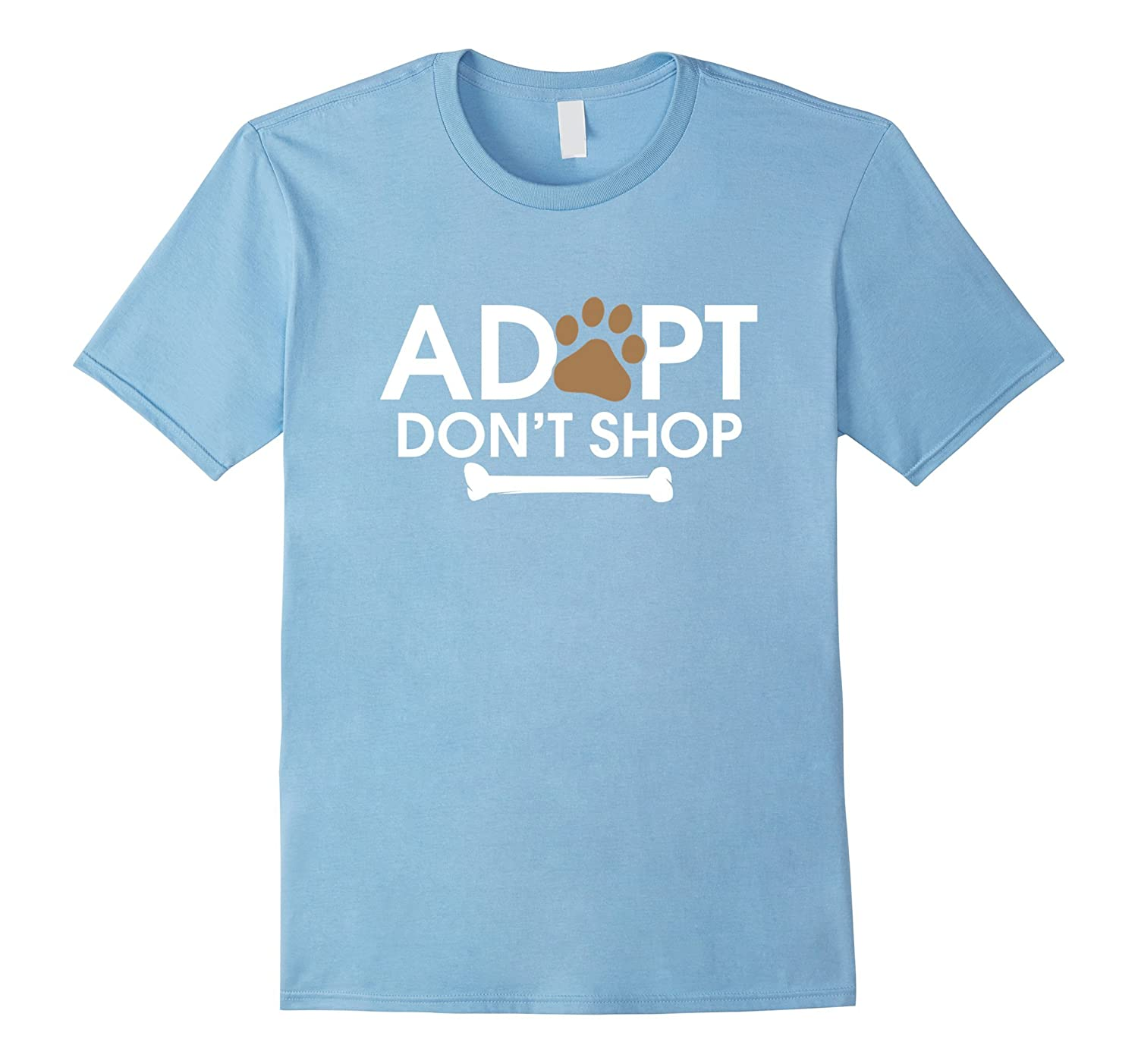 Adopt Don't Shop T-Shirt | Rescue Animals Shirt Cat and Dog-CL