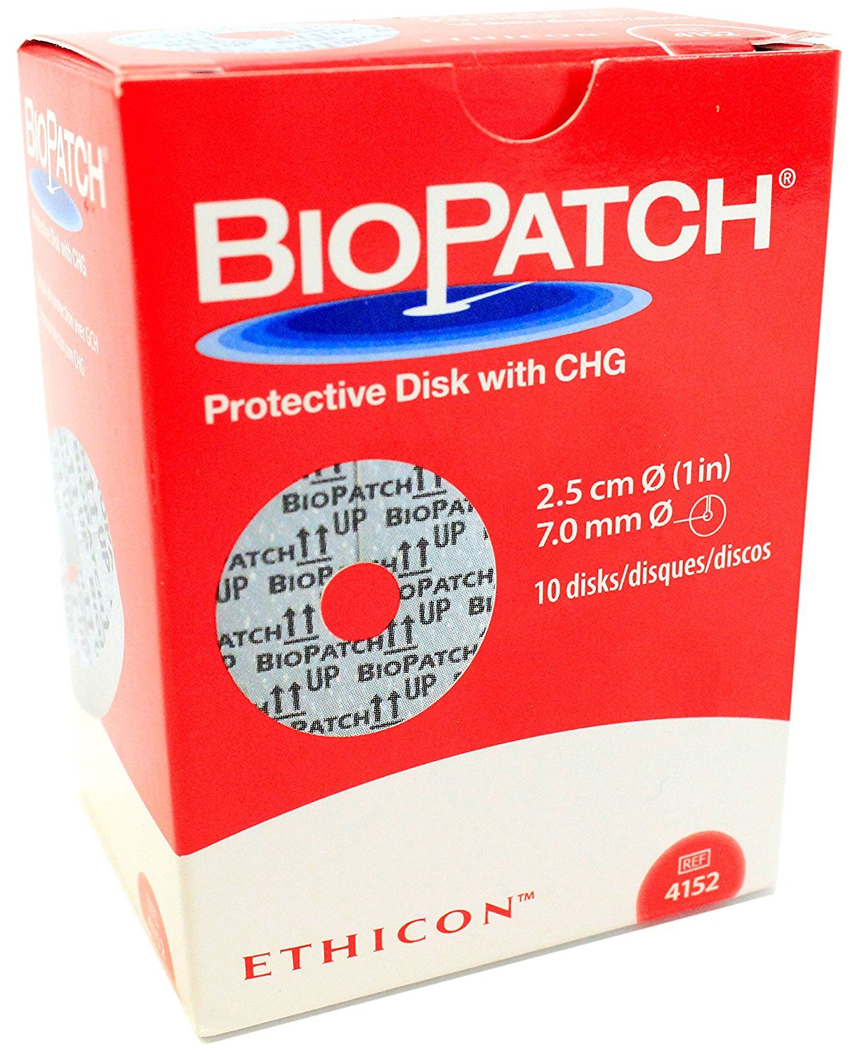 Biopatch Antimicrobial Dressing 1'' Disk, 7mm Part No. ET 4152 Qty Per Package