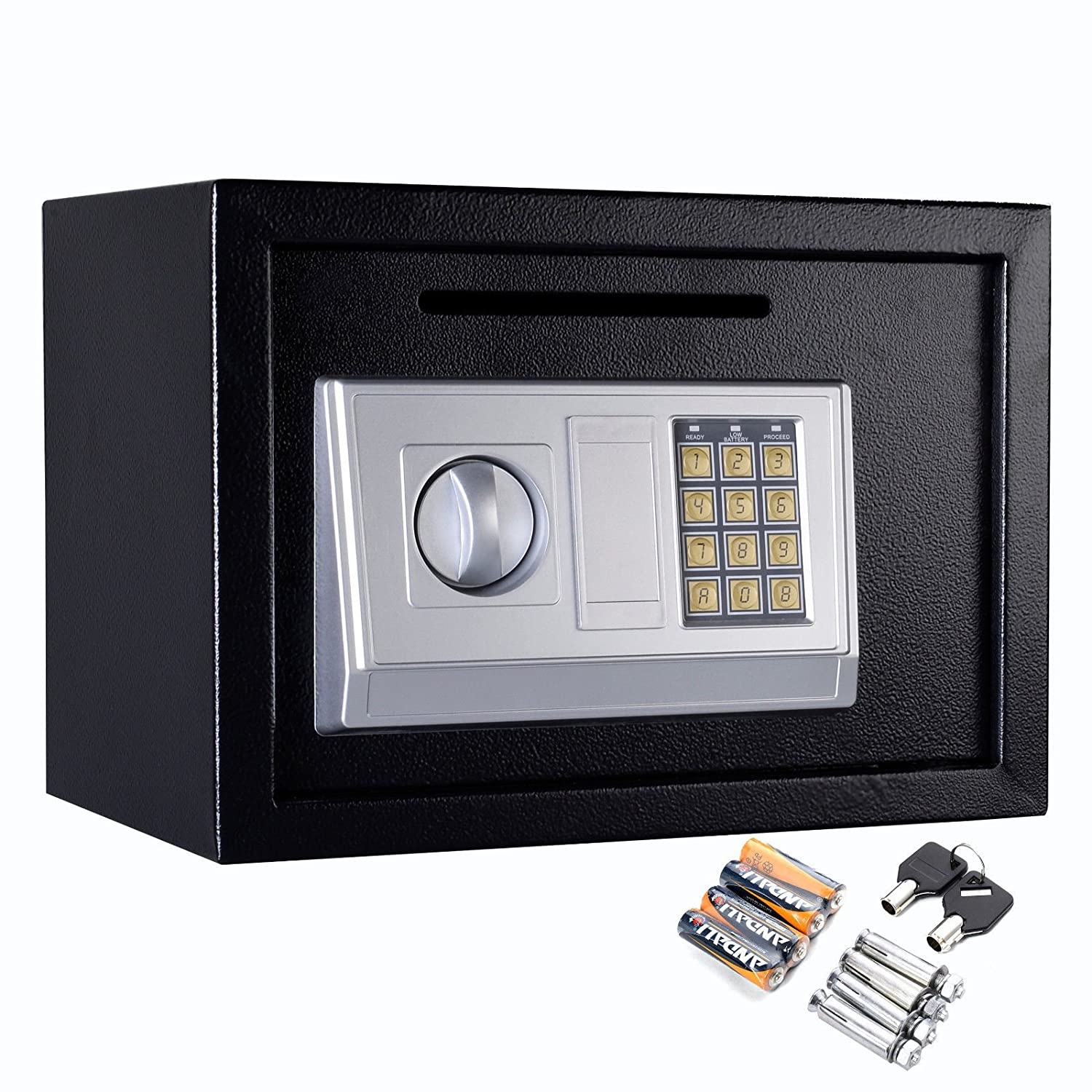 "Safstar Electronic Digital Security Keypad Lock Box Home Office Hotel Safe Business Jewelry Cash Money Gun Cabinet (13.8"" x 10"" x 10"")"