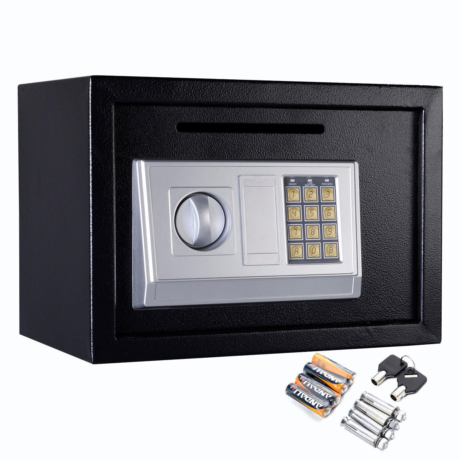 Safstar Electronic Digital Security Keypad Lock Box Home Office Hotel Safe Business Jewelry Cash Money Gun Cabinet (13.8'' x 10'' x 10'')