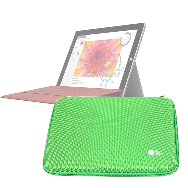 DURAGADGET Funda Rígida Verde Lima Para Microsoft Surface 3 - Con Bolsillo De Red En Su Interior - Alta Calidad