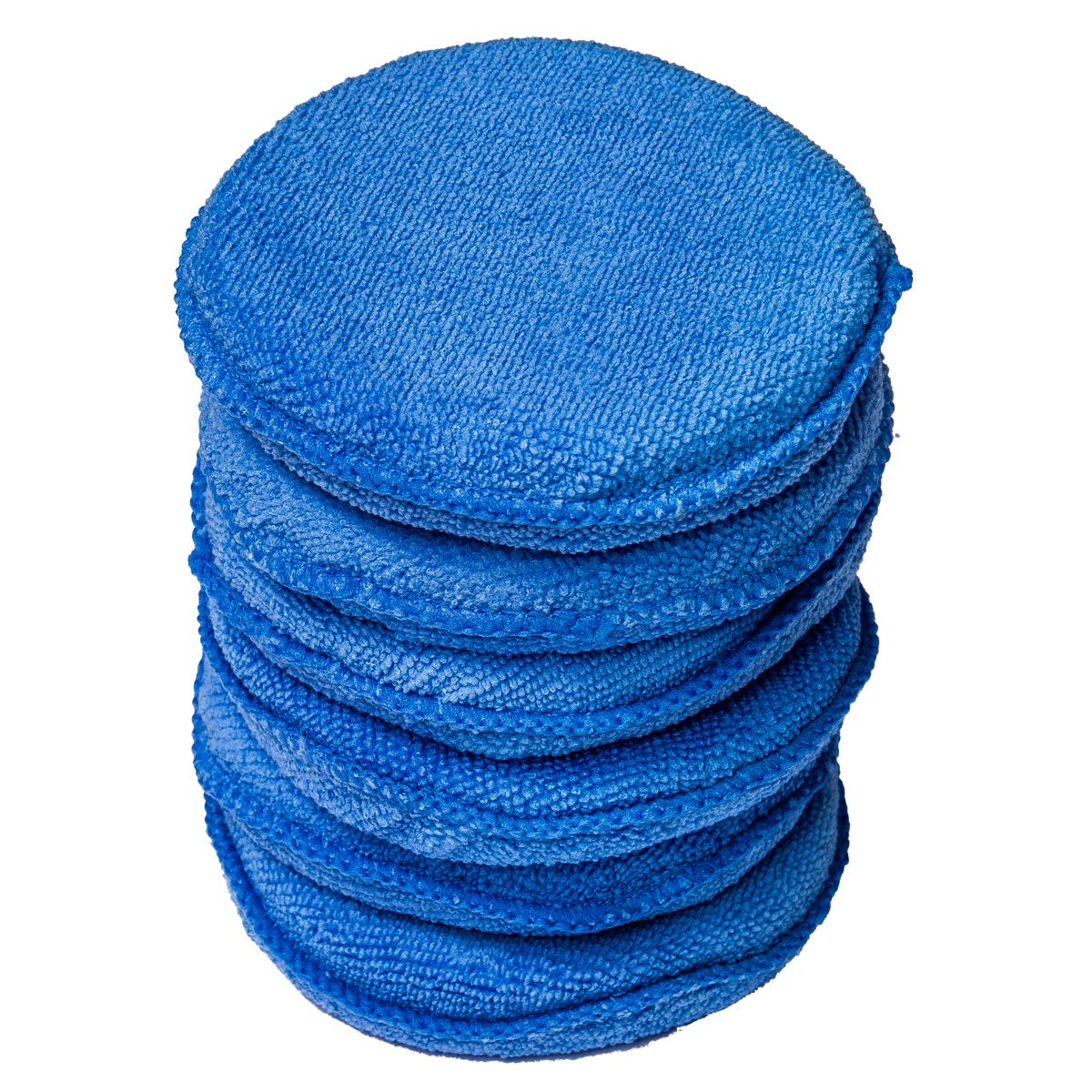 WildAuto Mikrofaser Wachs Applikator Auto Schaum Wachs Schwamm Applikator Pads - Blau (5' Durchmesser, 4 STK) UK-Car wax applicator -4 Pcs