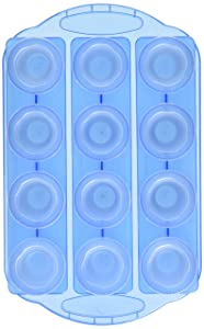 Fairly Odd Novelties FON-10051 12pc Set-Add Water & Freeze to Make Ice Shot Glasses-Includes Serving Tray, One Size, Blue