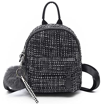 Amazon.com  Perfues Backpacks Women Wool Backpack Cute Pendant Back Pack  For Girls School Bag Travel Shoulders 2767250cf1465