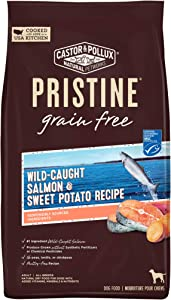 Castor & Pollux PRISTINE Grain Free Dry Dog Food Wild Caught Salmon & Sweet Potato Recipe - 10 lb. Bag (52007)