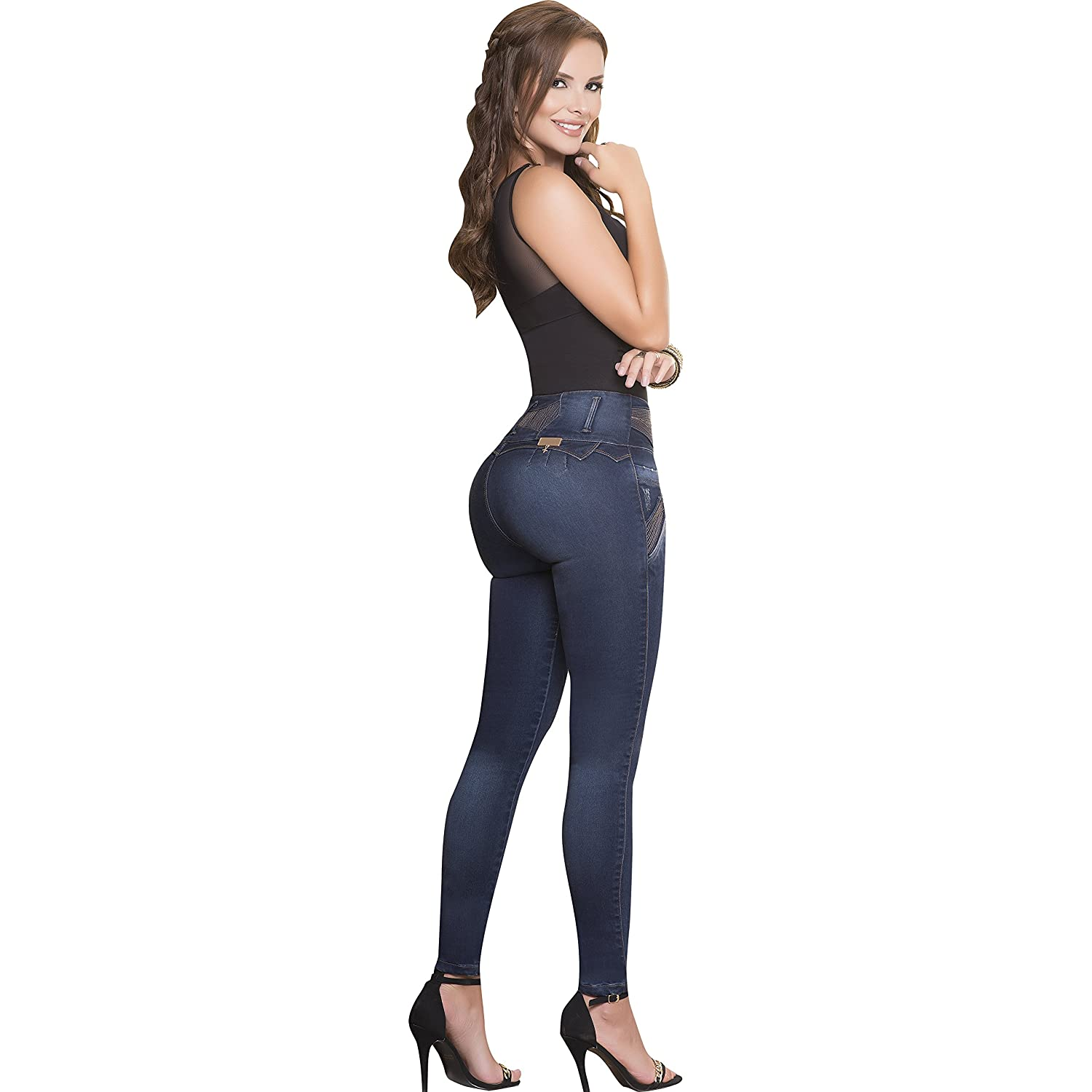 d52b0c6f2c4 Aranza Women Jeans Butt Lifting Colombian Stretch Lifter High Pants  Pantalon Mujer Cintura at Amazon Women s Jeans store