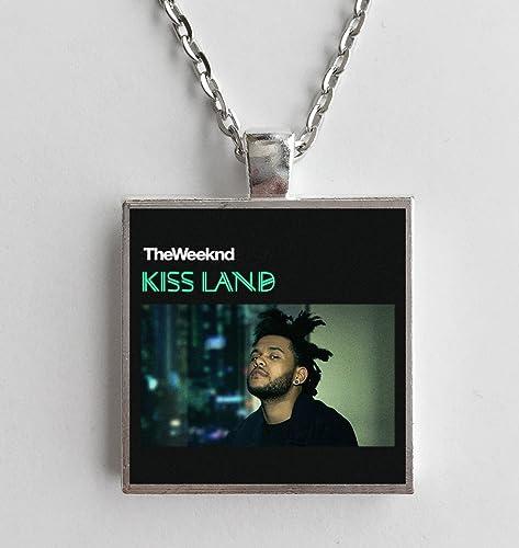 Amazon Com Album Cover Art Necklace The Weeknd Kiss Land Handmade