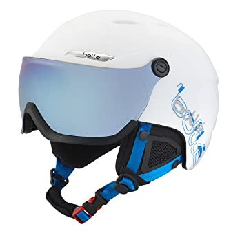 Bollé Casco de esquí B de yond Visor White/Grey/Blue, 58 –