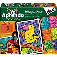 Diset 63758 Yo Aprendo Mosaicos Jag lär sig mosaik, färgglad