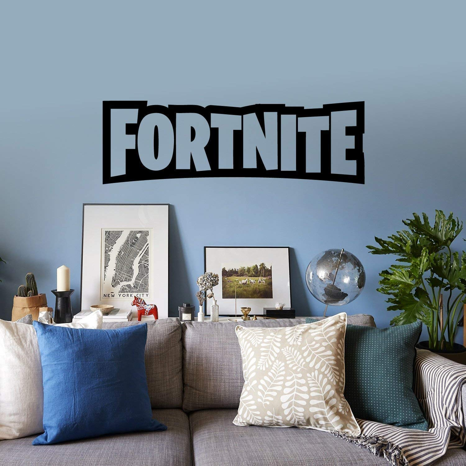 FORTNITE Large Vinyl Sticker/Decal. 23'' or 35'' Black or white. No background.