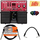 Boss RC-30 Loop Station Bundle with Instrument Cable, Patch Cable, Picks, and Austin Bazaar Polishing Cloth