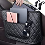 Handbag Holder for Car, Senose Leather Seat Back Car Organizer and Storage, Car Back Seat Pocket Purse Car Pouch Bags Between