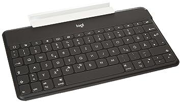Logitech Keys-To-Go Bluetooth QWERTZ Alemán Negro teclado para móvil - teclados para