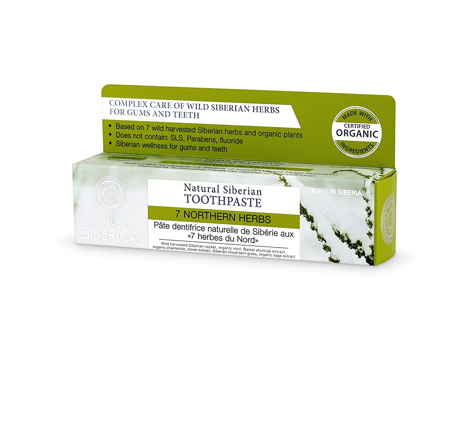 Natura Siberica Natural Siberian Toothpaste 7 Northern Herbs 100g 7531