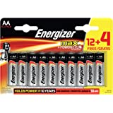Energizer MAX Alkaline AA Batteries, 16 Pack