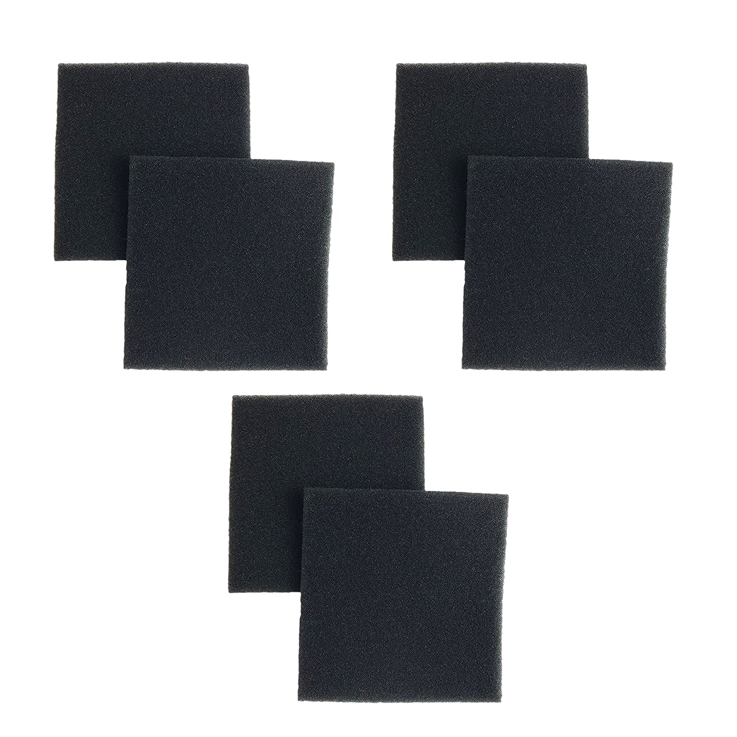 6 Kenmore Sears Progressive Double Layer Foam Filter CF1, Panasonic Vacuum Cleaners, Compare to Part # CF1, CF-1, 20-86883, 86883, 2086883, 4370616, 8175084, 20-40321, 2040321, 40321, Ultracare Kenmore 610461,Designed and Engineered by Crucial Vacuum