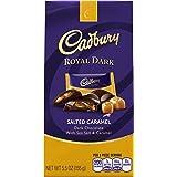 CADBURY ROYAL DARK Salted Caramel Chocolate Candy Bar, Dark Chocolate Filled with Sea Salt and Caramel, 5.5 Ounce Package