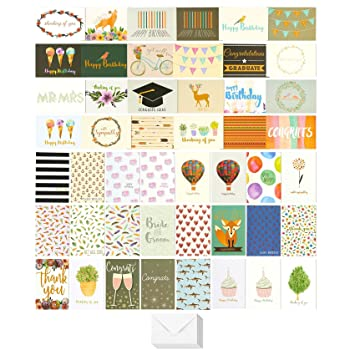 Best paper greetings 48 pack assorted all occasion greeting cards best paper greetings 48 pack assorted all occasion greeting cards includes birthday wedding m4hsunfo Images
