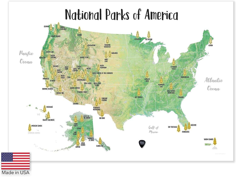 Amazon Com Massive Wanderlust Scratch Off Your National Parks Of