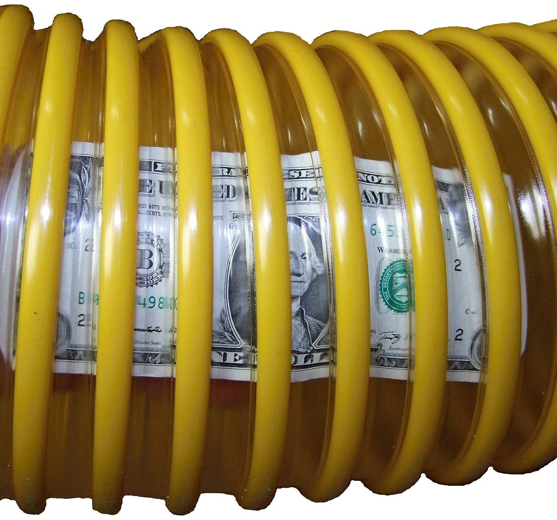 Yellow, 12 6 inch x 12 Feet   Clear Urethane .030 Wall /… Leaf Vacuum Collection Yard Hose