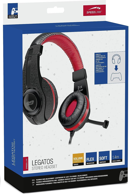Speedlink LEGATOS Stereo Headset - for PS4 - Headset stereo per gamepad  Dualshock®4 (Telecomando a filo integrato ab4f6142ac57