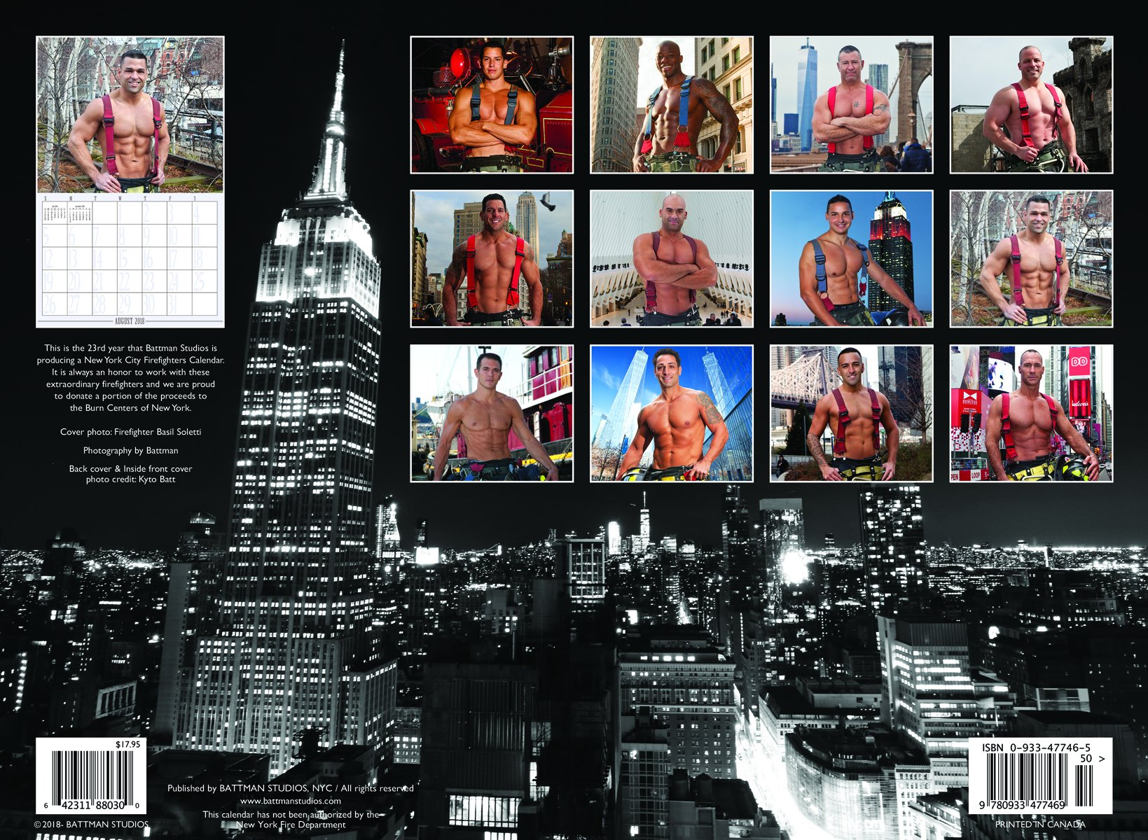 2018 new york city firefighters calendar battman 9780933477469 amazoncom books
