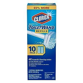 Clorox ToiletWand - Sistema de limpieza desechable para inodoro – Wand, organizador de almacenamiento y