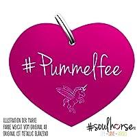 Pferde Glücksmarke #Pummelfee Pink – Gücksbringer - Soulhorse Anhänger Halfter, Trense, Zaumzeug, Sattel, Vorderzeug
