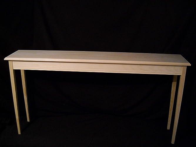 Awesome Amazon Com Unfinished 60 Console Sofa Foyer 11 Deep Machost Co Dining Chair Design Ideas Machostcouk