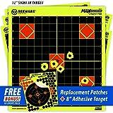 BEEWARE Sight In Targets (THICKER - BRIGHTER - BETTER) Fluorescent Reactive Splatter Targets for Shooting Indoor/Outdoor Ranges