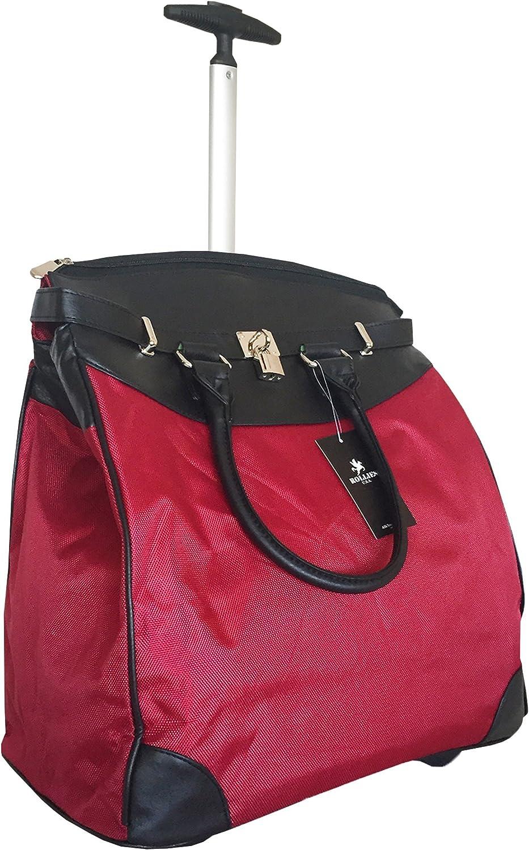 "Trendy Flyer 19"" Computer/Laptop Rolling Bag 2 Wheel Case (Red)"