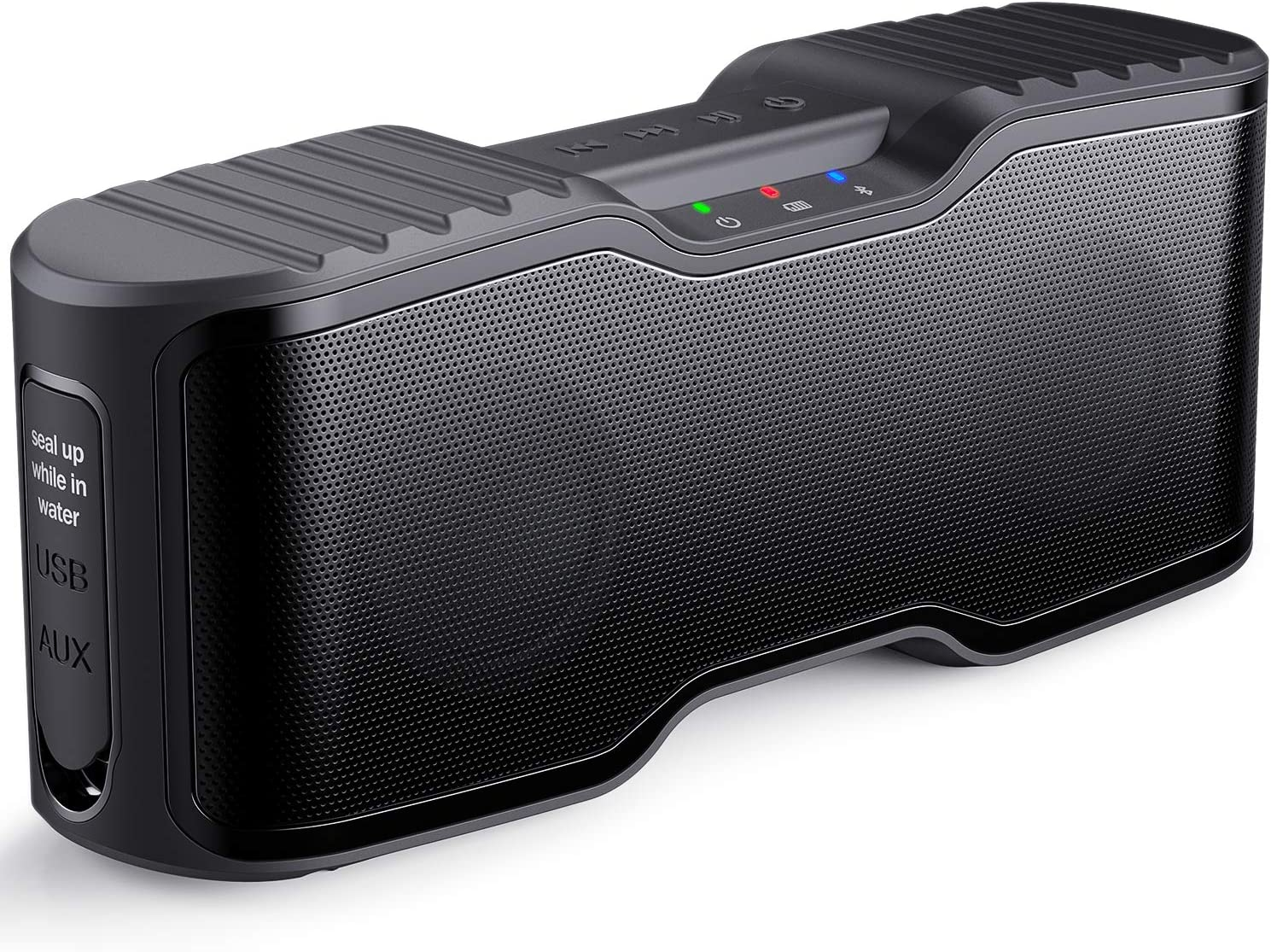 AOMAIS Sport II Portable Wireless Bluetooth Speakers 20W Bass Sound, 15H Playtime, Waterproof IPX7, Stereo Pairing, Outdoors, Travel Home Party Black