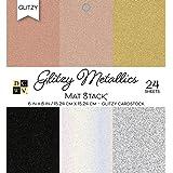 "DCWV Card Stock 6"" X6 Glitzy Cardstock Stack: Metallics, 6""x6"""