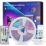ViLSOM Led Strip Lights 1 Roll 32.8 Feet with 44 Keys Remote and Connector 24V Power Supply, Led Lights for Bedroom…