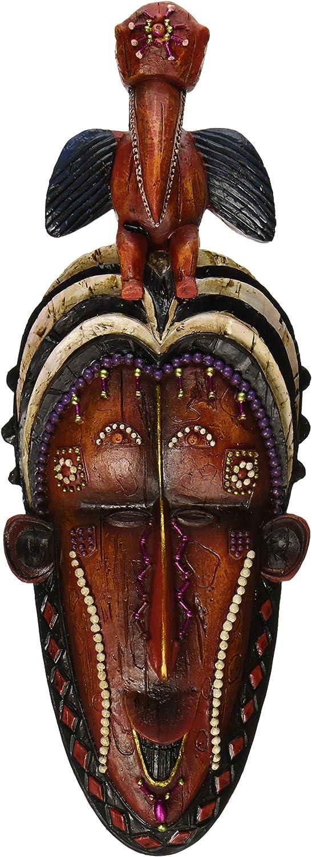 Design Toscano QL19717 Masks of The Congo: Hornbill Wall Sculptures, woodtone