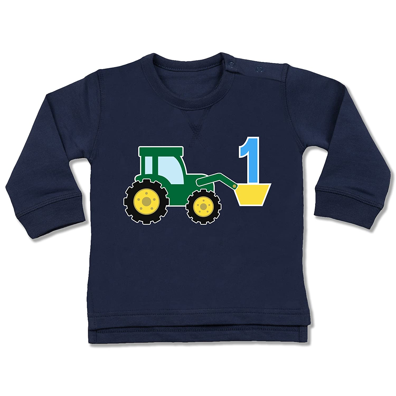 Shirtracer Geburtstag Baby - 1. Geburtstag Traktor - Baby Pullover BZ31