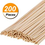 Hicarer 200 Pack Rattan Diffuser Sticks Wood Diffuser Sticks Refills Essential Oil Aroma Diffuser Replacement Sticks 24 cm/9.45 Inch