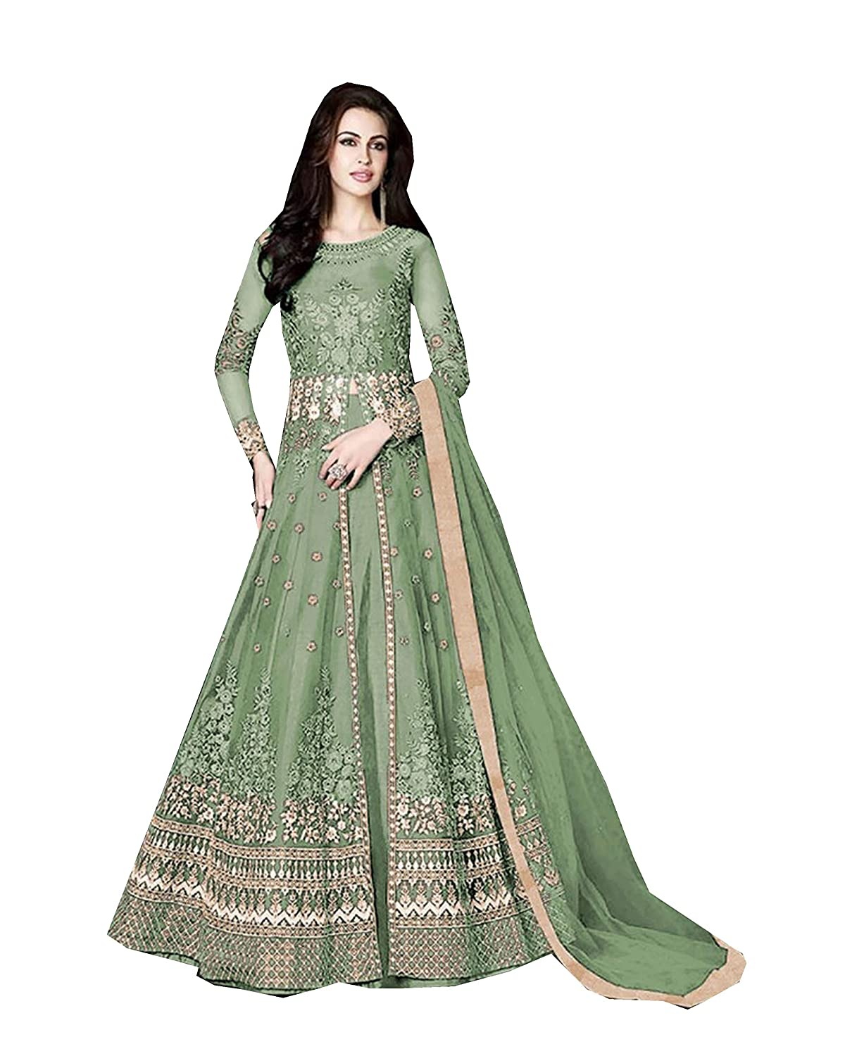 cdd96b056 Amazon.com: Delisa Indian/Pakistani Bollywood Party Wear Long Anarkali Gown  for Womens Razzi 1002: Clothing