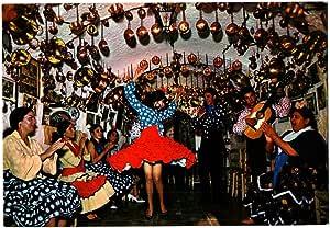 ANTIGUA TARJETA POSTAL POSTCARD ESPAÑA TÍPICA BAILE GITANO EN UNA CUEVA. SAVIR FLAMENCO. BAILAORAS. BAILAORES. Nº 1.188 GITANOS GIPSY. CARTE POSTALE. IDEAL COLECCIÓN DE POSTALES: Amazon.es: Oficina y papelería