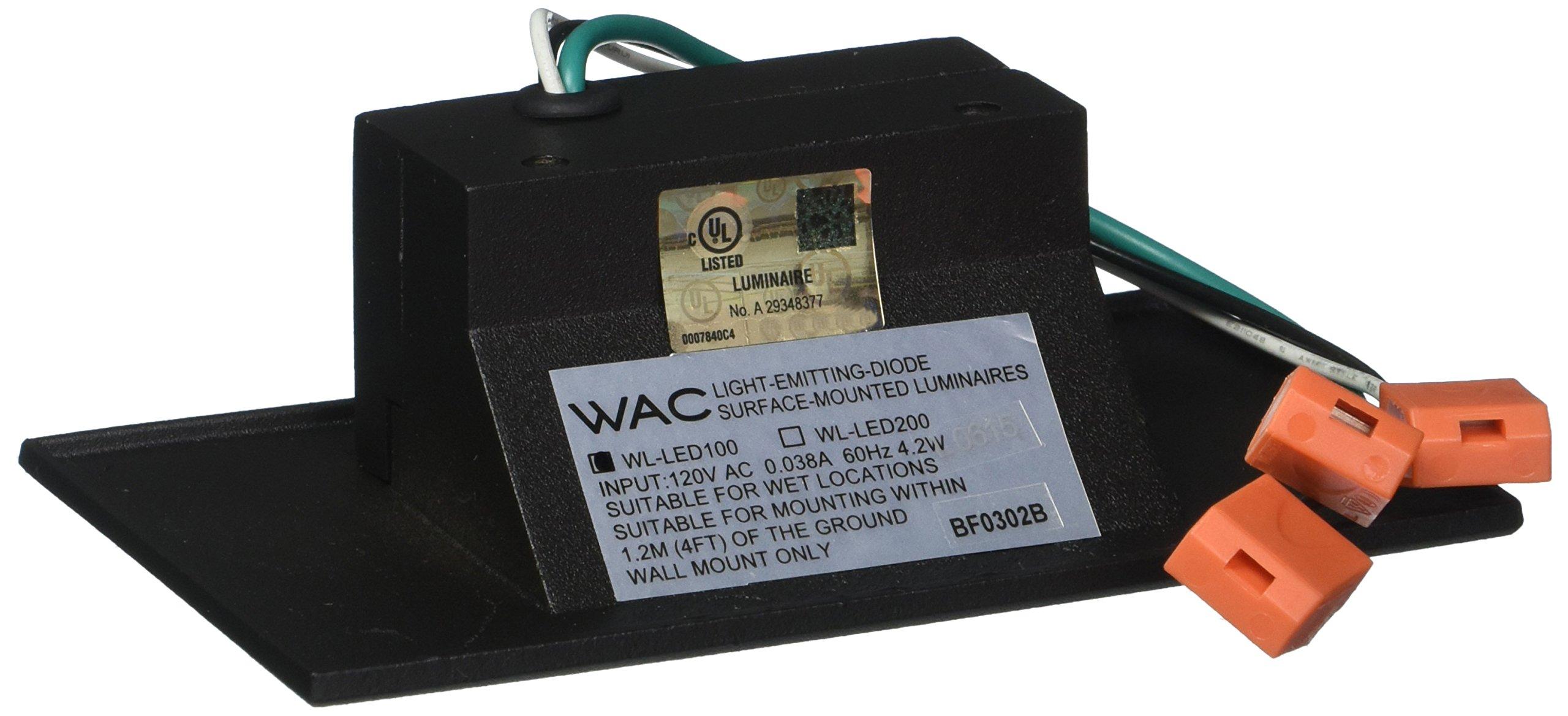 WAC Lighting WL-LED100-BL-BK 120V Horizontal Step Light with Blue