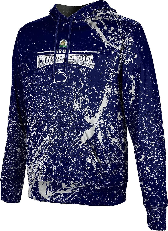 School Spirit Sweatshirt Citrus Bowl Splatter Penn State University Mens Pullover Hoodie