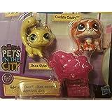 """Littlest Pet Shop Mini 1/"""" Adorable Duos Conchita Fluttery Zenzo Malik 3 Pcs Set"""