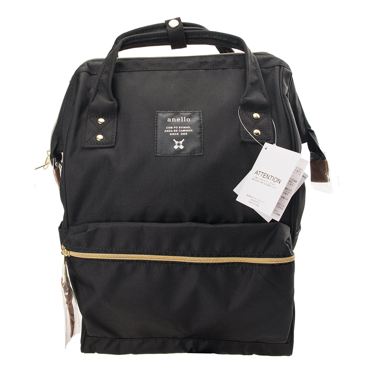 Anello Official Black Japan Fashion Shoulder Rucksack Backpack Casual Diaper Bag Unisex