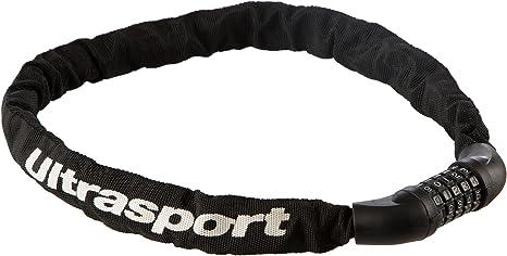 Ultrasport 331500000072 Cadena antirrobo para Bicicleta, Unisex Adulto, Negro, 90 cm: Amazon.es: Deportes y aire libre