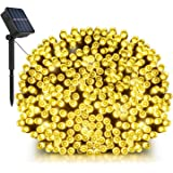 Solar String Lights, LDesign 72ft 200 LED Bright Solar Decorative Romantic Powered Starry Fairy Lights Waterproof(IP68) Christmas Lights for Outdoor,Indoor,Garden, Home, Christmas Party, Wedding, Dancing, Holiday, Mall,Xmas Tree-8 Modes Warm White