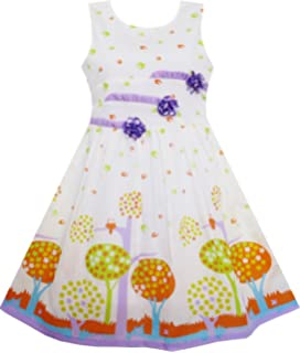 3107e84a9065e Amazon.com: Sunny Fashion Girls Dress Beaded Pearl Drawing Flowers ...